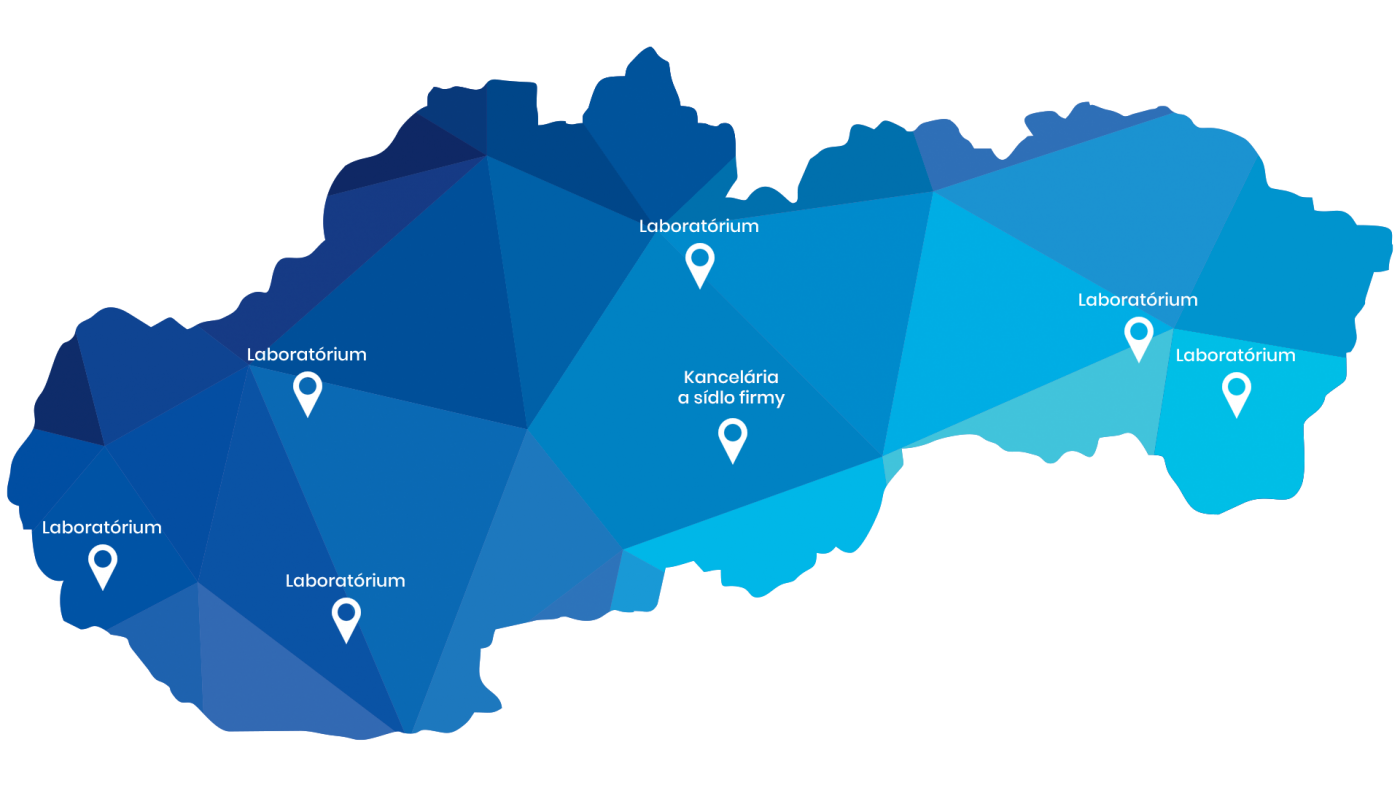 Mapa naších pracovísk
