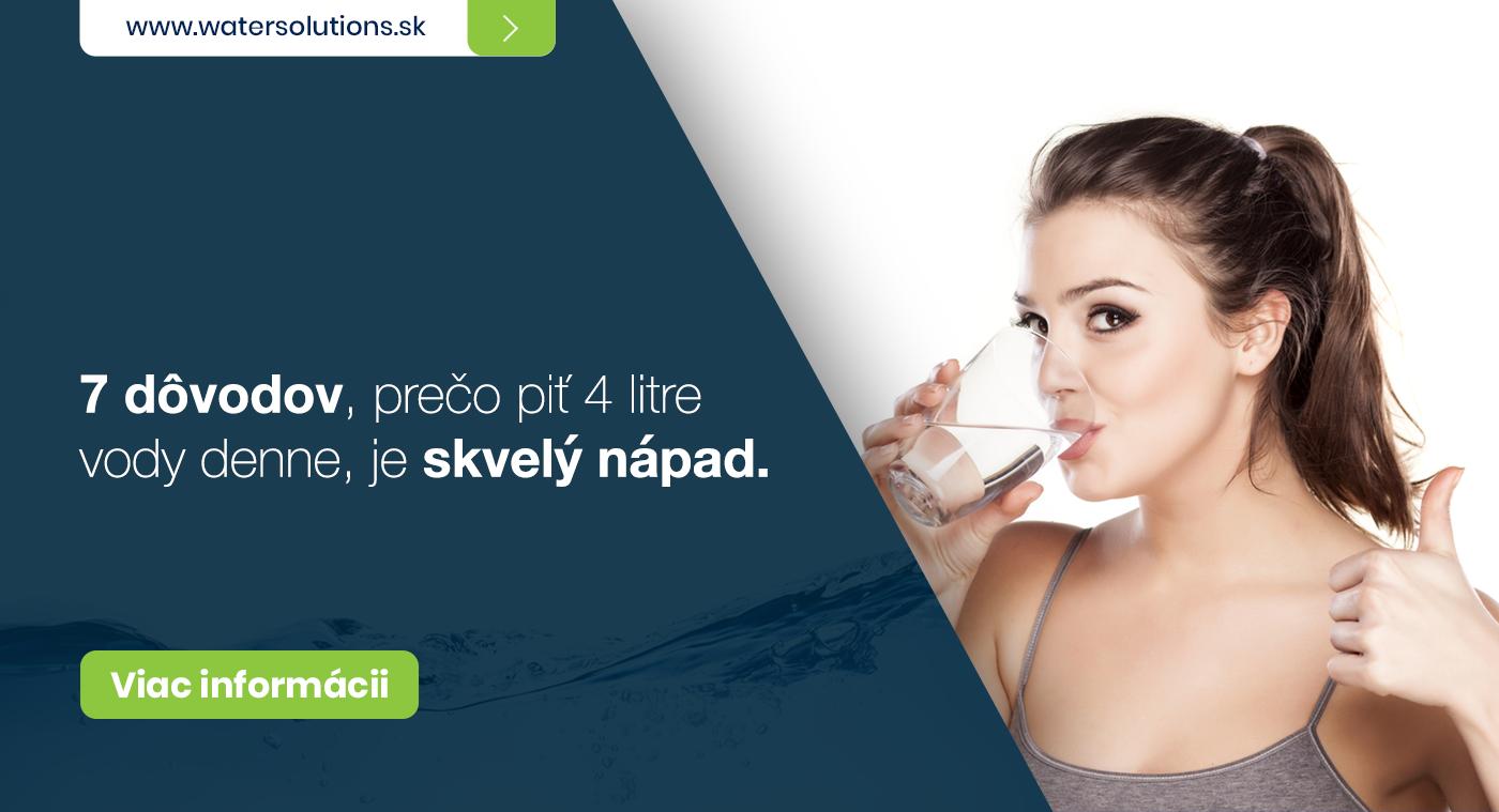 7 dôvodov, prečo piť 4 litre vody denne, je skvelý nápad.